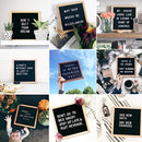 "Changeable Letter Board (10"" x 10"") with 435 Changeable Letters (Letters, Numbers, Symbols) & 45 Emoji 