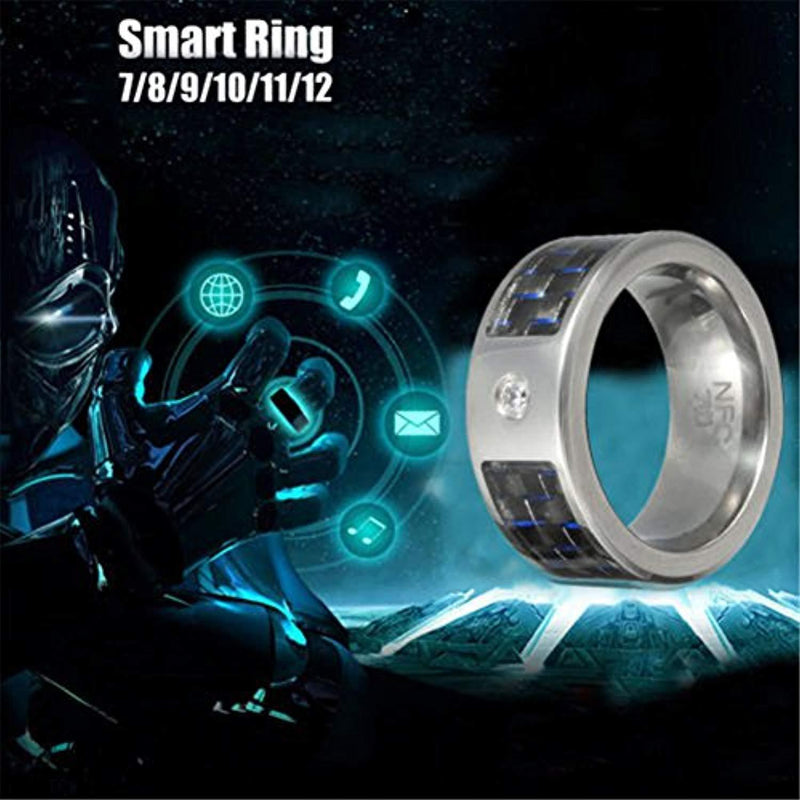 Multifunctional NFC Smart Ring,Magic Wearable Universal Wear Finger Digital Ring for Android Windows Mobile Phone(Size 11)