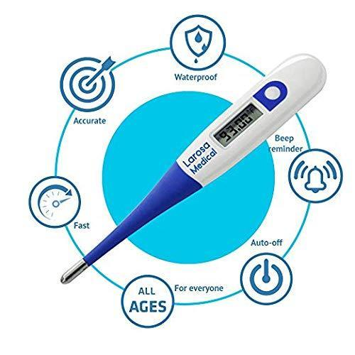 LAROSA MEDICAL Basal Thermometer - Digital Basal Body Temperature Monitor for Tracking Ovulation - Highly Accurate 1/100th Degree - Catch Perfect Ovulation and Get Pregnant Naturally