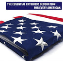 American Flag 3x5 ft Embroidered Stars Sewn Stripes with Brass Grommets Nylon US Flag for Boat Yacht Workplace Home Garden Business Outdoor United States Flag