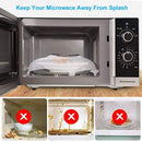 Micriwave Plate Cover – Clear Anti-Sputtering Microwave Hover by Hazie