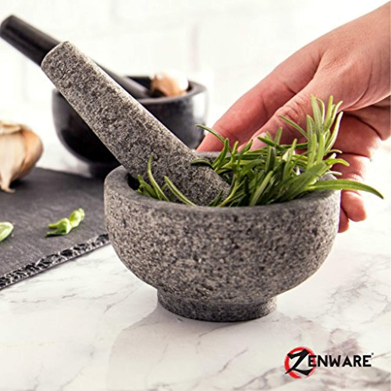 Zenware Heavyweight Mortar and Pestle -White Marble