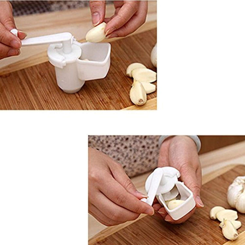 Kemilove Multifunctional Garlic Ginger Crusher Grinder Press Rotate Kitchen Gadget Tools (Small)