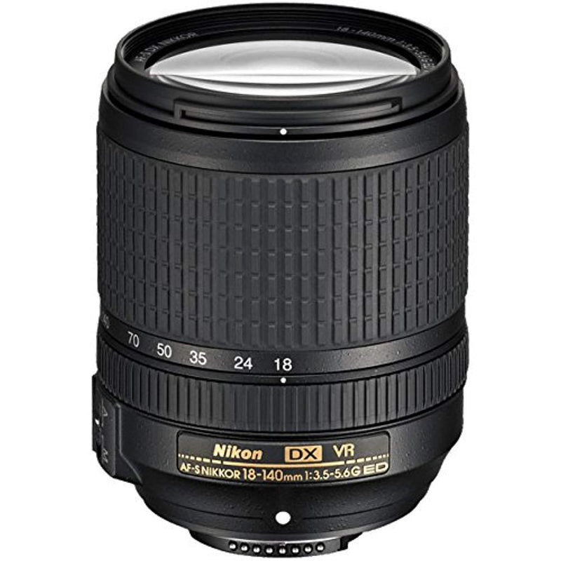 Nikon AF-S DX NIKKOR 18-140mm f/3.5-5.6G ED Vibration Reduction Zoom Lens with Auto Focus for Nikon DSLR Cameras (Certified Refurbished)
