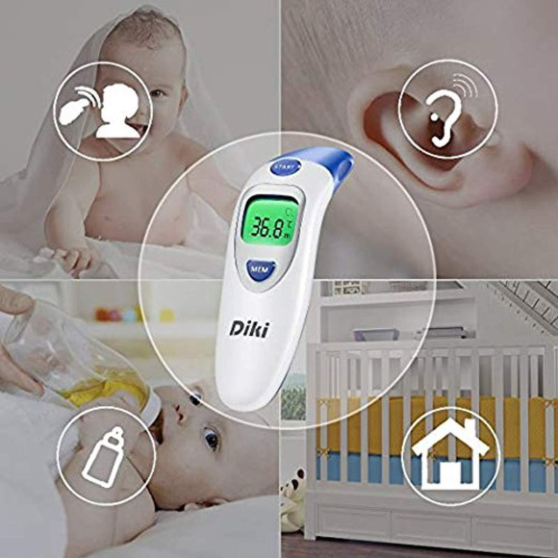 Baby Ear and Forehead Thermometer, Digital Medical Infrared Fever Thermometer, Accurate Instant Read For Toddler Infant Kids Children Adult by DIKI