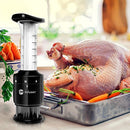 Professional Meat Tenderizer and Marinade Flavor Sauce Injector. This 2-in-1 Infuser uses Sharp Stainless Steel Needles/Syringe and is best for Steak, Chicken, Pork, Lamb, Veal, Roast, Beef