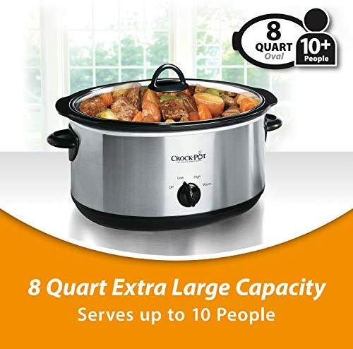 Crockpot SCR300-SS 3-Quart Manual Slow Cooker, Silver