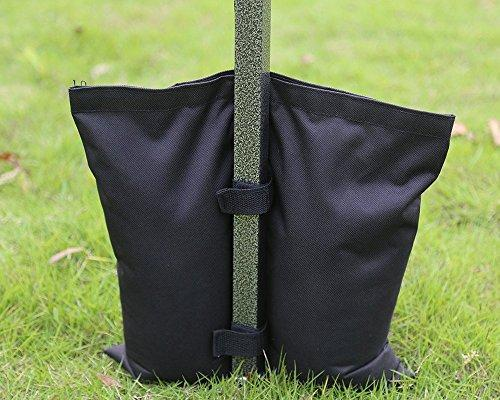 MASTERCANOPY Set of 4 Weights Bags for Pop Up Portable Folding Canopy, Black