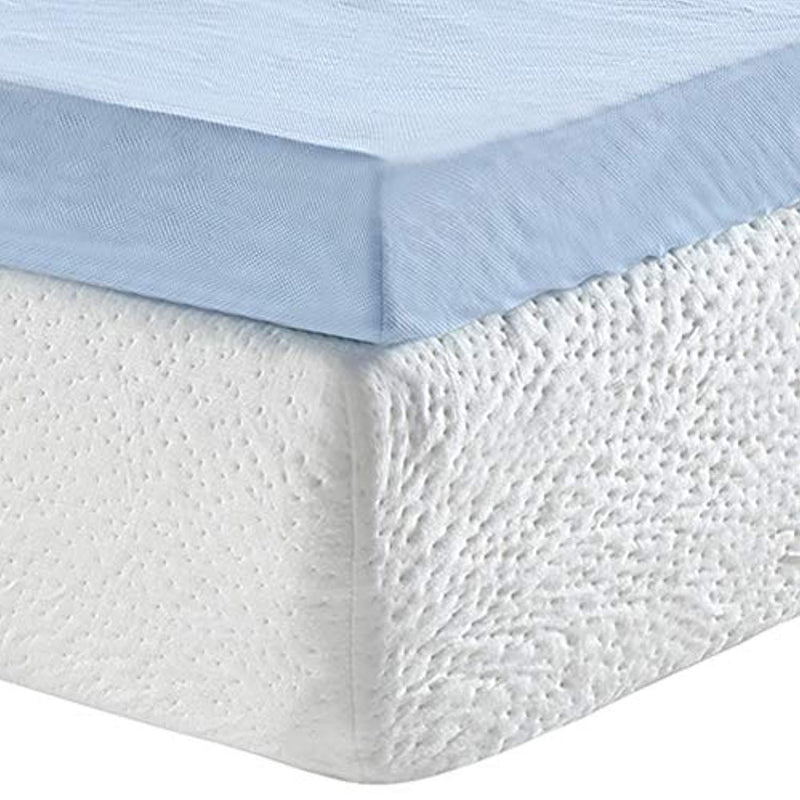 Classic Brands 3-Inch Cool Cloud Gel Memory Foam Mattress Topper With Free Cover, Queen