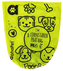 My AlphaPet Dog Poop Bags Refill Rolls - Large Size 9 x 13 Inches - Earth Friendly Highest ASTM D6400 Rated - Leak Proof Doggie Waste Bags