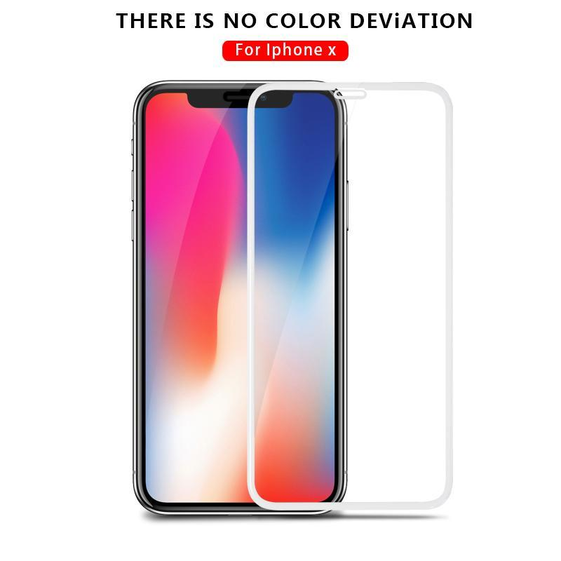 5D Full Cover Edge Tempered Glass For Apple iPhone X Explosion Protection Film for iphoneX