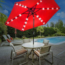 Sorbus LED Outdoor Umbrella, 10 ft Patio Umbrella LED Solar Power, with Tilt Adjustment and Crank Lift System, Perfect for Backyard, Patio, Deck, Poolside, and More (Solar LED - Red)