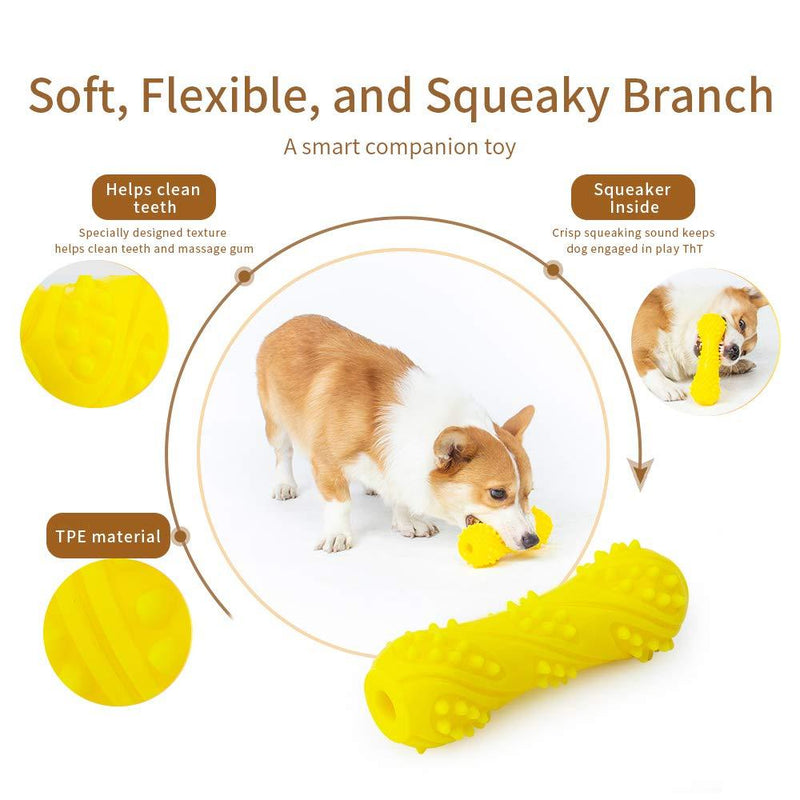 EETOYS Puppy Teething Toys Dog Chew Toys for Aggressive Chewers Made W/Non-Toxic TPE (Small,Whistle Bone) by EETOYS MARKET LEADER PET LOVER