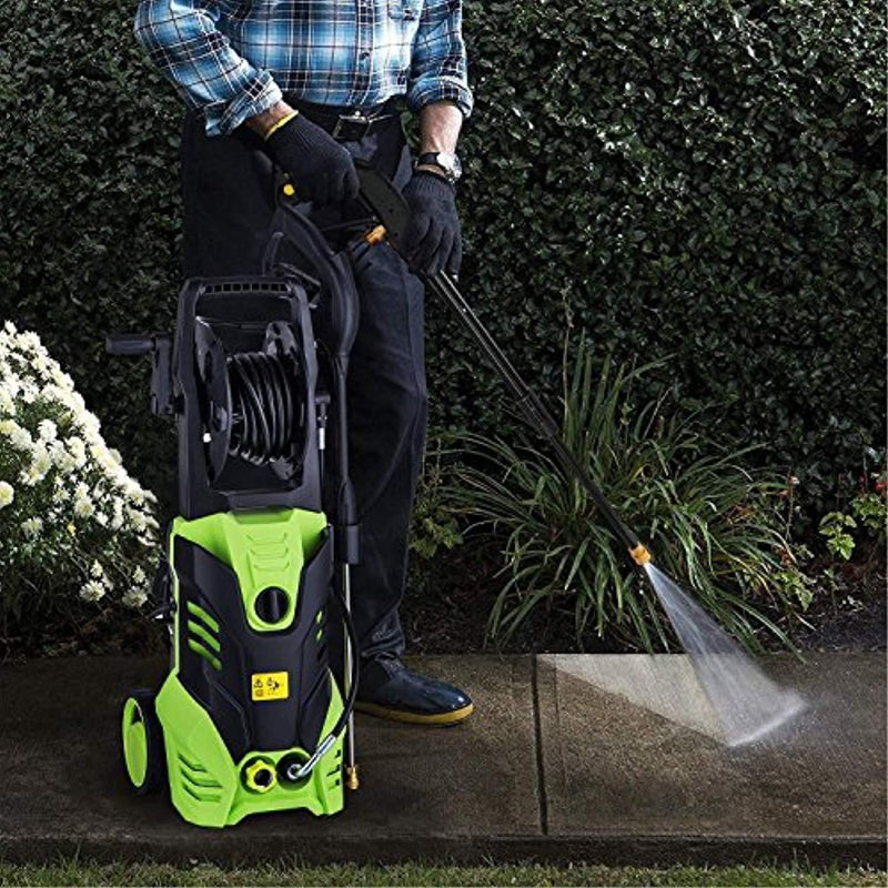 Oanon NIC4500 High Pressure Power Washer 3000 PSI Electric Pressure Washer,1800W Rolling Wheels High Pressure Professional Washer Cleaner Machine+ (5) Nozzle Adapter (3000PSI-Classic Model)