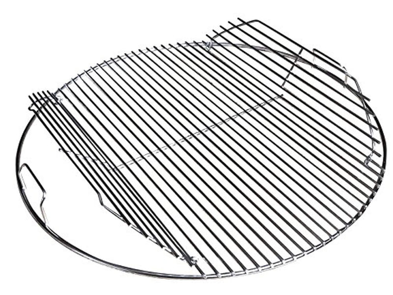 "Kettle Kommander 22.5 Inch 304 Stainless Steel 4.5 mm Hinged Grilling/Cooking Replacement Grate - for use in 22"" Weber Charcoal Grills - Stronger Design"