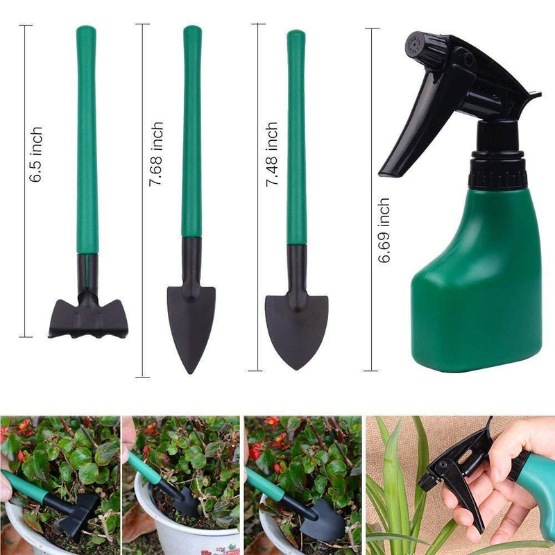 Sanwo Garden Tools Set, 10 Pieces Gardening Tool with Durable Carrying Case, Ergonomic Handle Trowel Rake Weeder Pruner Shears Sprayer, Garden Hand Tools Gift for Women