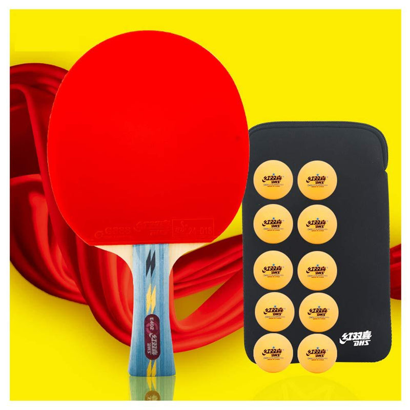 SSHHI 4 Star Table Tennis Bats,7Layers of Wood,Ping Pong Paddle, Can Be Used for Indoor and Outdoor Game,Wear Resistant/As Shown/Long Handle