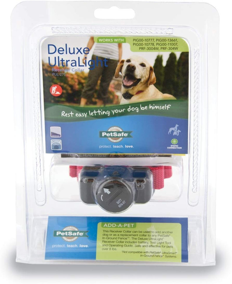 Nest 9 Deluxe Ultralight Dog Collar Fence Receiver