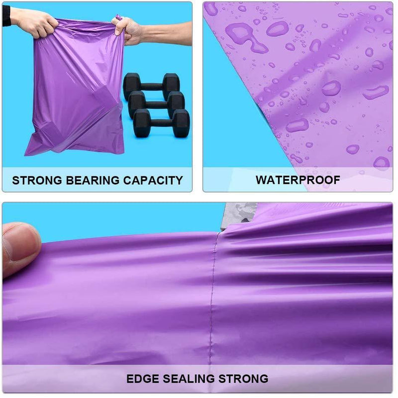 Fu Global 100pcs 14.5x19 Inches Poly Mailers Shipping Envelops Boutique Custom Bags Enhanced Durability Multipurpose Shipping Bags Keep Items Safe Protected(Purple)