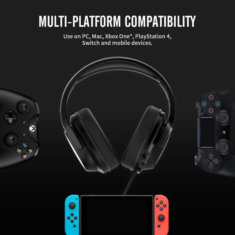 NUBWO Gaming Headset, Gaming Headphones with Detachable Noise Canceling Mic for PS4, Xbox One Wireless Controller, Nintendo Switch Lite, PC