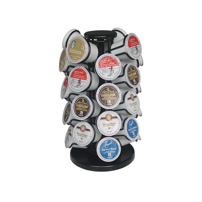 BLACKSMITH FAMILY K Cup Carousel,K Cup Holder,Coffee Pod Holder,Holds 32 K-Cup Coffee Pods, Matte Black