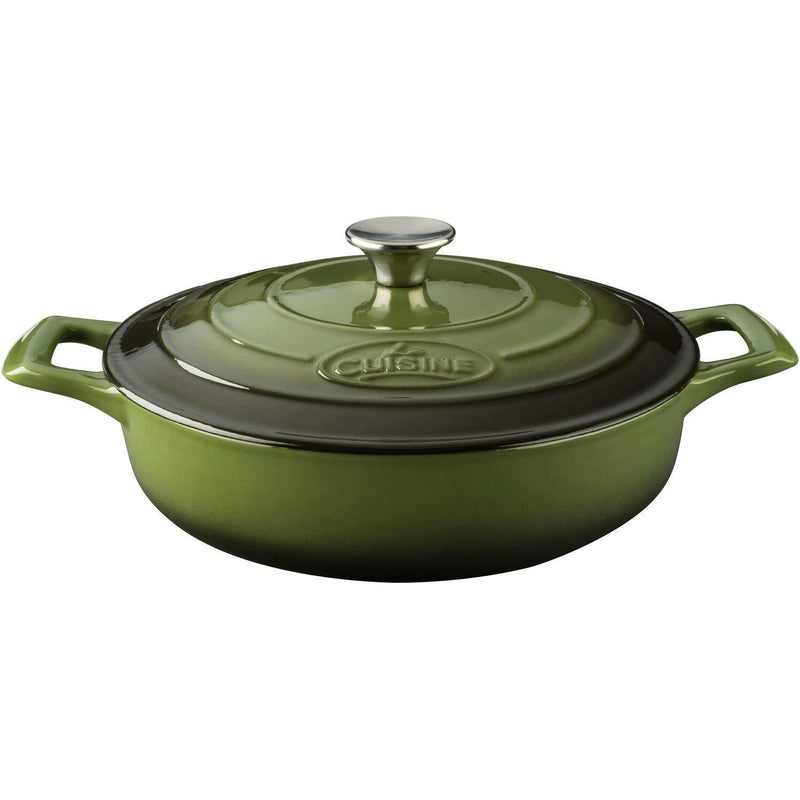 La Cuisine PRO Saute 3.75 Qt Enameled Cast Iron Covered Dutch Oven, Red