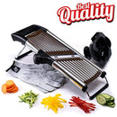 [Upgraded] Mandoline Slicer + FREE Cut-Resistant Gloves and Blade Guard – Adjustable Mandolin Vegetable Slicer and French Fry Cutter, Food Slicer, Vegetable Julienne - Stainless Steel by Grocery Art