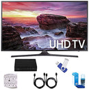 "Samsung UN40MU6290 6-Series 39.9"" LED 4K UHD Smart TV Deluxe Accessory Bundle includes TV, TV Tuner, 16GB USB 2.0 Flash Drive, Screen Cleaner, 6-Outlet Surge Adapter, and 6ft High Speed HDMI Cable x 2"