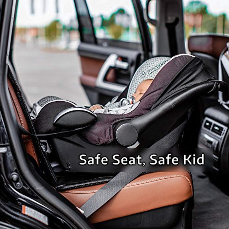 Car Seat Protector - Premium Carseat Auto Cover - For Baby & Infant Safety Seat as Kick Mat - Covers your Expensive Leather Seats with Thick Pad - Waterproof and Dirt Resistant - For SUV, Sedan, Truck