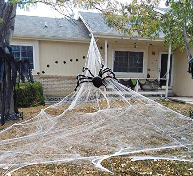 Halloween Giant Spider Web - Outdoor Yard Scary Halloween Decorations & Props