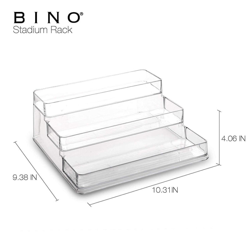 BINO 'Stadium' 3-Tiered Pantry Cabinet Plastic Storage Organizer Rack - Storage for Kitchen, Refrigerator, Freezer and Pantry , Clear Quantity remaining
