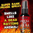 Nasty Smelling 3 Pack - Stinky Ass Fart Spray - Toxic Bomb - Smell from Hell - 1 oz Each - Plus 2 oz Stinky Ass Hand Sanitizer