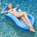 DR.DUDU Pool Float with Canopy, Adult Inflatable Pool Float Raft with Shade Water Lounge