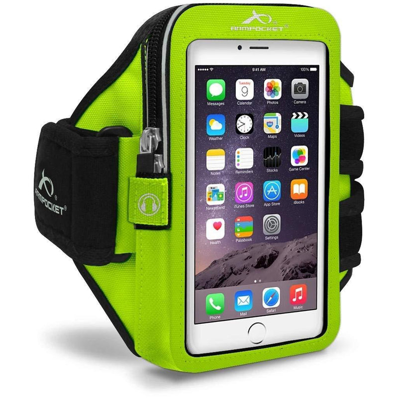Armpocket Mega i-40 armband for iPhone X/8/7/6s/6, Galaxy S8+, Note 8, Google Pixel 2/1 & Pixel 2 XL/XL or other phones and cases up to 6.5