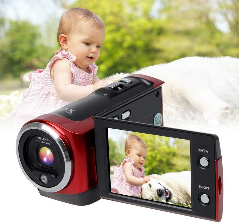 Digital Video Camcorder HD 720P Camera DV Video Recorder 16MP 16x ZOOM 270 Degree 2.7'' TFT LCD Screen Rotation Portable Camcorder by corprit