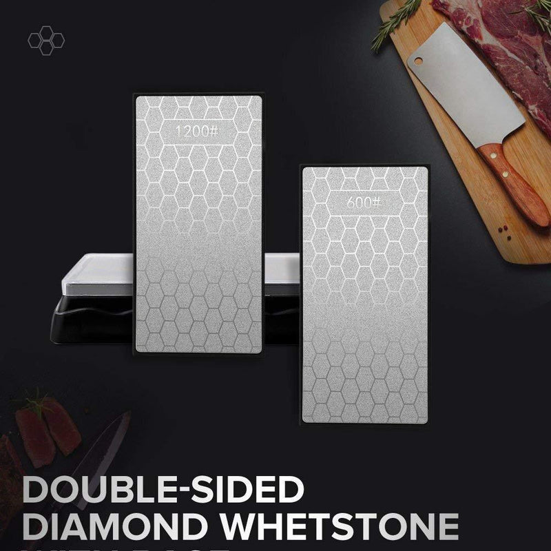 Diamond Knife Sharpening Stone,Double-sided Whetstone Is Used For Household Kitchen Knives,Hunting Knives,Scissors,Axe Heads,Woodworking Cutting Tools, Multi-purpose Sharpening/Blade Polishing