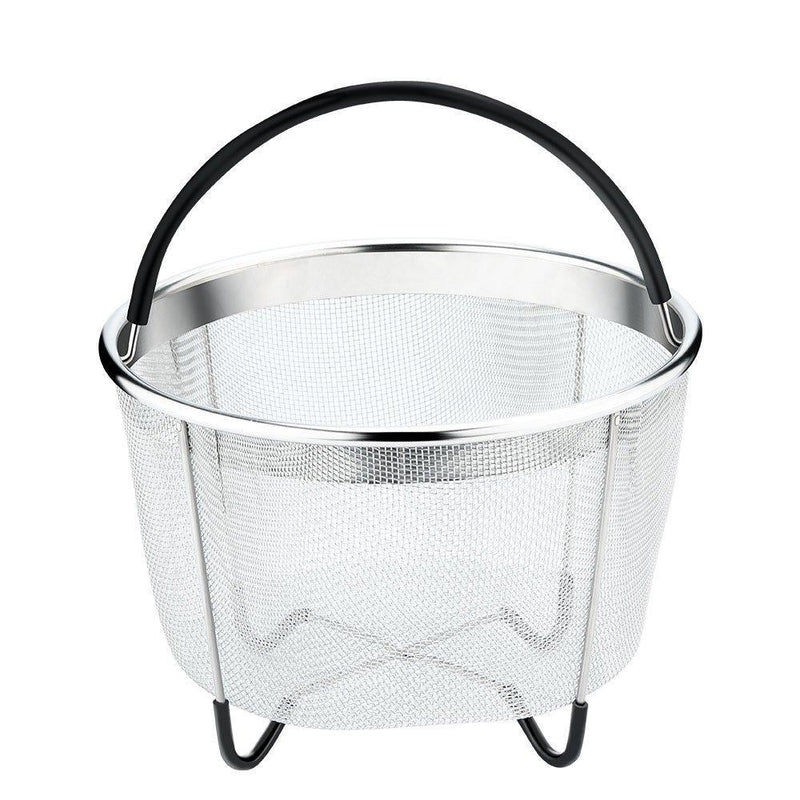 Instant Pot Accessories 6 and 8 qt Steamer Basket, Fits InstaPot Pressure Cooker, Insta Pot Ultra Egg Basket w/Silicone Handle and Non-Slip Legs (Instant Pot 6 and 8 Quart) by UNIQUE IMPRESSION