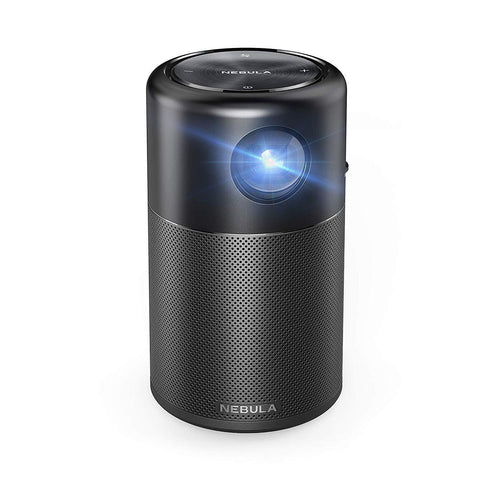 Nebula Capsule Smart Mini Projector, by Anker, Portable 100 ANSI lm High-Contrast Pocket Cinema with Wi-Fi, DLP, 360° Speaker, 100