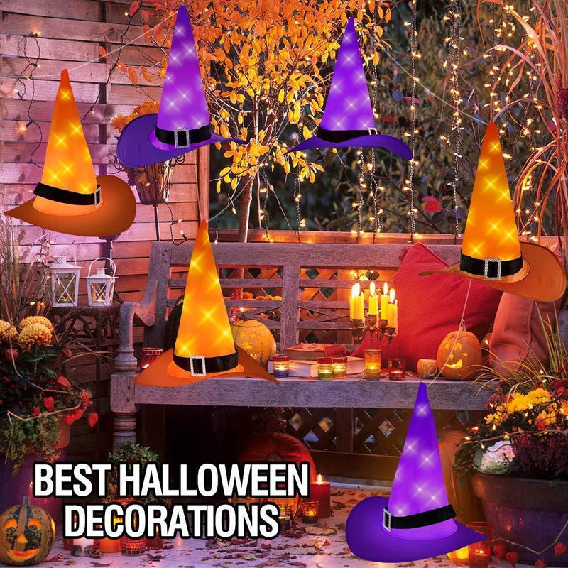 Joinart Halloween String Lights Halloween Decorations 6pcs Witch Hats 30ft 8 Modes Light String for Indoor Outdoor Decorations Halloween Light Décor for Tree Patio Garden Yard Party Décor Home Décor by UMIKU