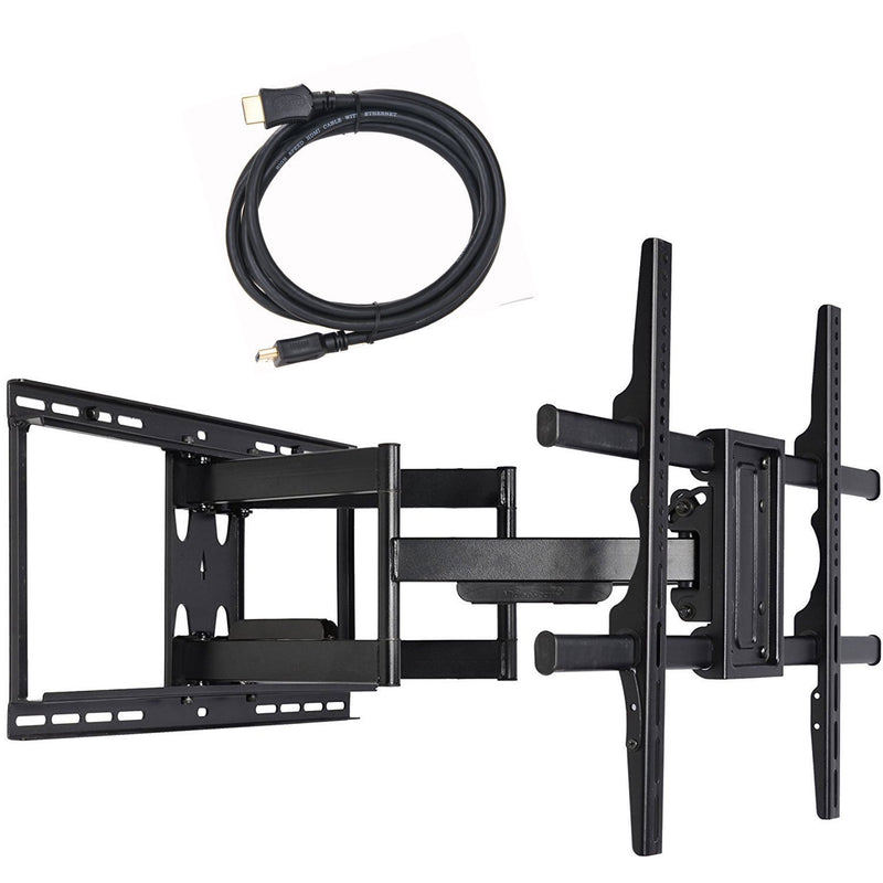 "VideoSecu ML531BE TV Wall Mount for Most 27""-55"" LED LCD Plasma Flat Screen Monitor up to 88 lb VESA 400x400 with Full Motion Swivel Articulating 20 in Extension Arm, HDMI Cable & Bubble Level WP5"