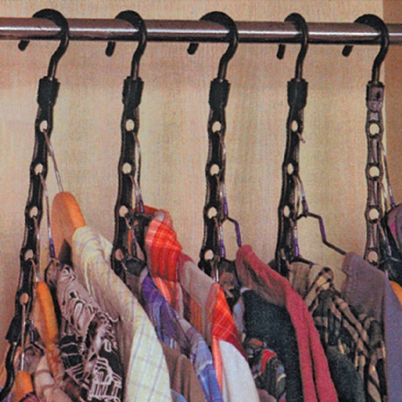 10 Pc Space saver hangers closet organizing racks multiple clothes hanger holder