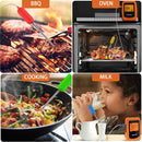 Bluetooth Meat Thermometer Wireless Digital BBQ Thermometer Instant Read Cooking Food Thermometer with 6 Probes Used for Smoker Kitchen Oven Grill Support iOS & Android