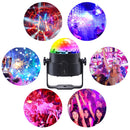 Luditek  [Latest 6-Color LEDs] Litake Party Lights Disco Ball Lights Strobe Light, 7 Patterns Sound Activated with Remote Control Dj Lights Stage Light