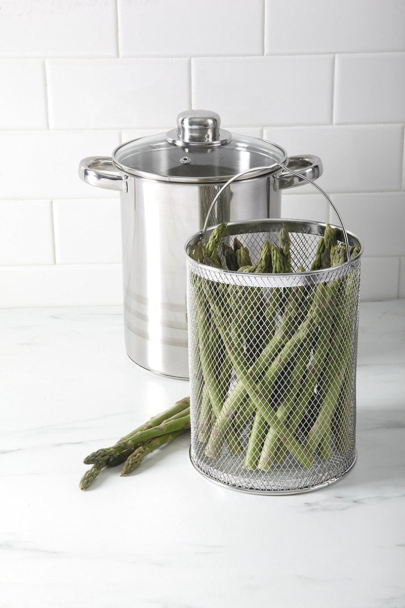 Chef Quality Stainless Steel Steamer - 4 QT Vegetable Steamer or Stovetop Steamer Cooker