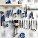 Pegboard Hooks Assortment with Pegboard Bins, Peg Locks, for Organizing Tools, 80 Piece by FRIMOONY