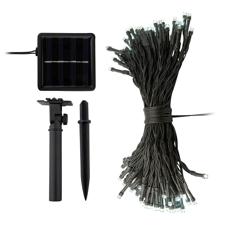 ORA 100 LED Solar Powered String Lights with Automatic Sensor, Black, 55 ft