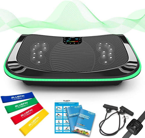 Bluefin Fitness 4D Triple Motor Vibration Platform | Powerful | Magnetic Therapy Massage | 4.0 Bluetooth Speakers | Vibration Oscillation & Micro Vibration Plate | 3 Silent Drive Motors