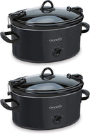 Crockpot 6-Quart Cook & Carry Oval Manual Portable Slow Cooker, Red - SCCPVL600-R