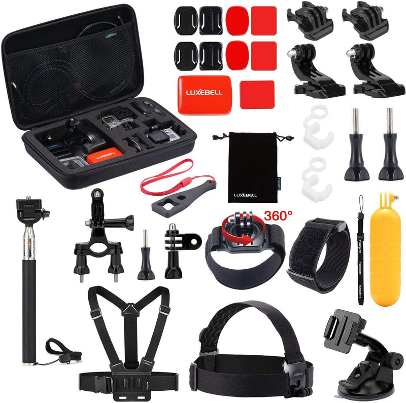 Black Pro Basic Common Outdoor Sports Kit for GoPro Hero 6 /GoPro Fusion/HERO 5/Session5/ 4 / 3+ / 3 / 2 / 1 SJ4000 /5000/ 6000 /AKASO/ APEMAN/ DBPOWER/ And Sony Sports DV and More by  MaxCo