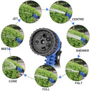 Expandable Garden Hose 50ft(7 in 1)multi-function hose nozzle, garden hose lightweight- multiple spray patterns water hose gun,flexible garden hose with double latex core - super fabric protection,ret